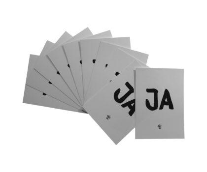 """Positives Postkartenset 10 mal """"Ja"""" Karte"""